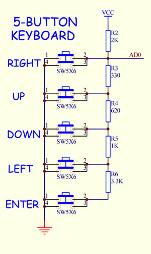 5-on-Keyboard-Diagram-300  Pin Wire Diagram on arduino mega, at89c51, 555 timer ic, pic18f452, lcd 16x2, 16f877a, ht12d,