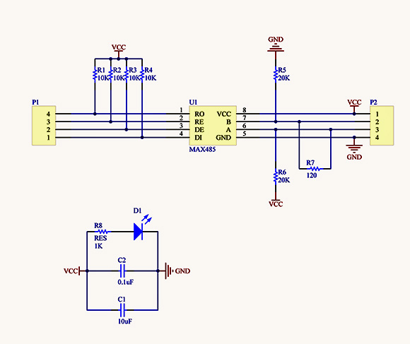 MAX485 Module Sch1 arduino info rs485 modules RS 485 Pinout Diagram at bakdesigns.co