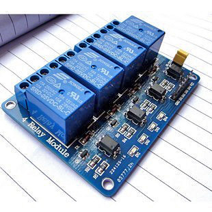 Opto-Isolated 4 Channel Relay Board on