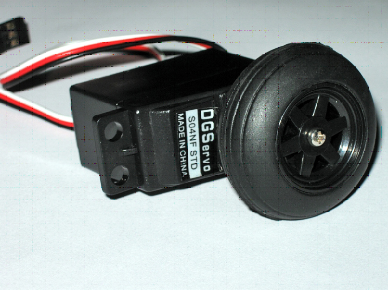 Factory Modified Continuous Rotation Servo And Wheel